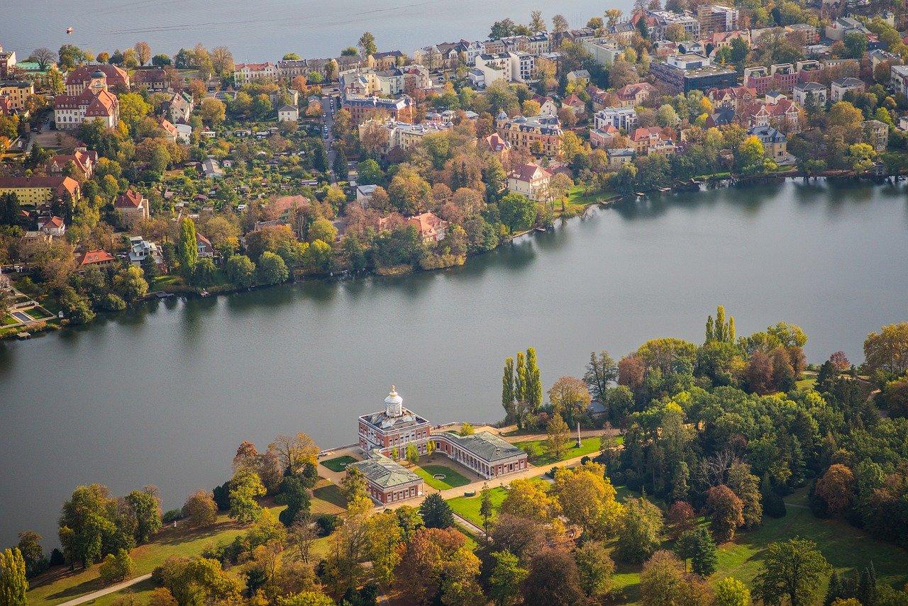 marble palace, luftbildaufnahme, bird's eye view